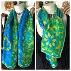 Vintage Silk Scarf ~ VERA